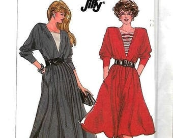 ON SALE Simplicity 8172 Jiffy Sewing Pattern, Misses Dolman Sleeve Dress In Two Lengths, 6-12, UNCUT
