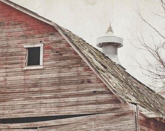 Country Photography, Old Red Barn, Rustic Wall Art,  Farmhouse Decor, Country Home Decor, Barn Art Prints   'Shingles'