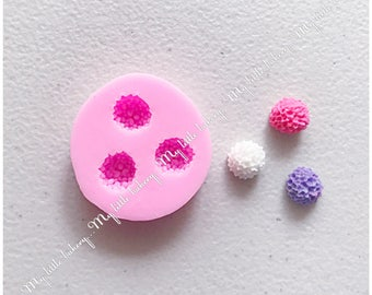 Cute flower silicone mold for cookie decorating