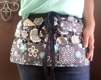 FREE SHIPPING*** Half Apron for Vendors, Events, Teachers, Waitress, Crafting or Gardening