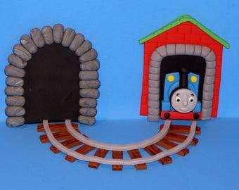Thomas the Train Cake Topper Fondant edible Thomas the Train Set