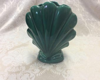 Mid-Century California Pottery Shell Vase