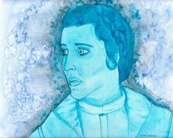 Princess Leia Organa - Carrie Fisher - Watercolor Painting Print - Fanart