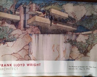 Poster for a Frank Lloyd Wright show at the Museum of Modern Art in New York.