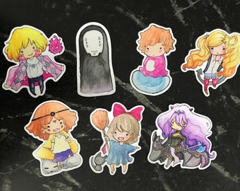 Various Watercolor Stickers Howl Kiki Ann Camilla and more
