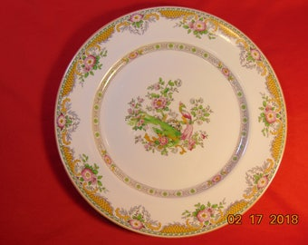 "Four (4), 9 3/4"", Royal Viteous Porcelain, Dinner Plates, from John Maddock & Sons, in the MAD 6 Pattern."