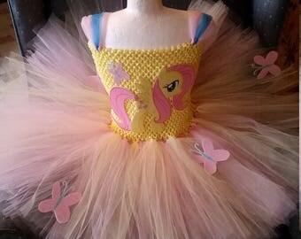 Fluttershy Flutter Shy or any My Little Pony Costume Flower Girl Tutu Dress