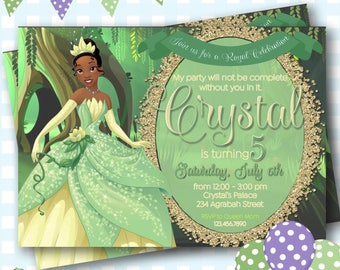 Princess and the Frog Invitation, Disney Princess Tiana Invite, Princess and the Frog Birthday Invite, Disney Princess Tiana Birthday - P852
