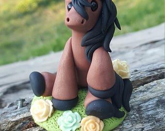Polymer clay mini pony