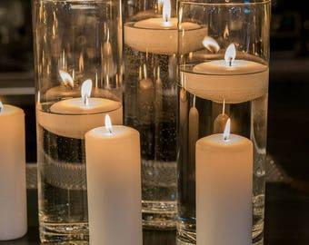 glass cylinder vases wedding vases reception floating candle holder flower cylinders centerpiece
