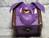 Mimic Desk Organizer Trinket Dice Box Small Storage Treasure Chest Stash Purple Leather Harry Potter Labyrinth Gamer MTG Card Box 263