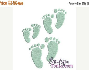 25% OFF Mini Footprints Embroidery Design Set - Instant Download