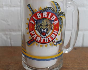 florida panthers beer mug 1993 NHL hockey collectible glass pint stein