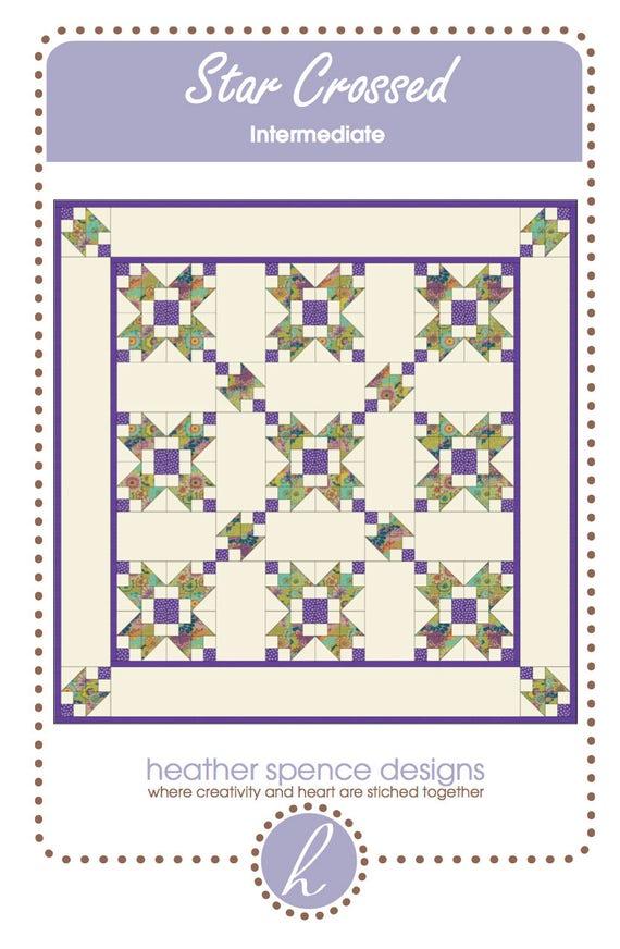 Star Quilt-Modern Quilt-Traditional Quilt-Quilt Pattern-Star Quilt Pattern-Star Crossed Quilt Pattern