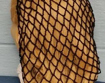 40's Square Net Hair Snood in Cotton