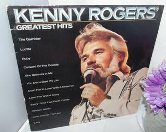 Vintage 1980 Vinyl Record LP 33RPM Kenny Rogers Greatest hits Liberty Records LOO 501072