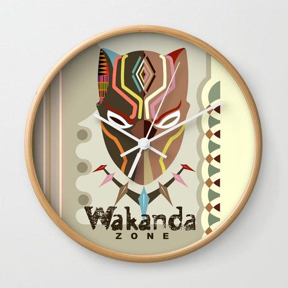 Wakanda Decor Clock, Black Panther Mask, Black Panther Decor,  Wakanda Gifts, African Design, African Gifts, African Inspired