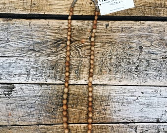 African Made Bead Necklace- Brown