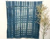 Vintage African Textile   African indigo blanket Indigo Textile Indigo Mudcloth African Mudcloth Indigo Cloth Beach Blanket tribal fabric 11