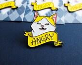 "Angry Banana Cat soft enamel pin (1.25"")"