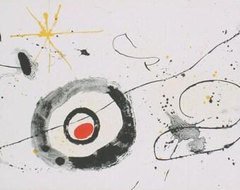 Joan Miro-DLM No.139-140, pg. 12-14-1963 Lithograph