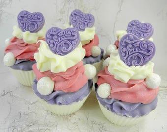 SPELLBOUND goat milk soap/cupcake soap/handmade soap/cold process/soap cupcake/body soap/soap/wholesale soap/decorative soap/artisan soap