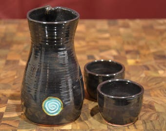 Sake Set in Black Iron