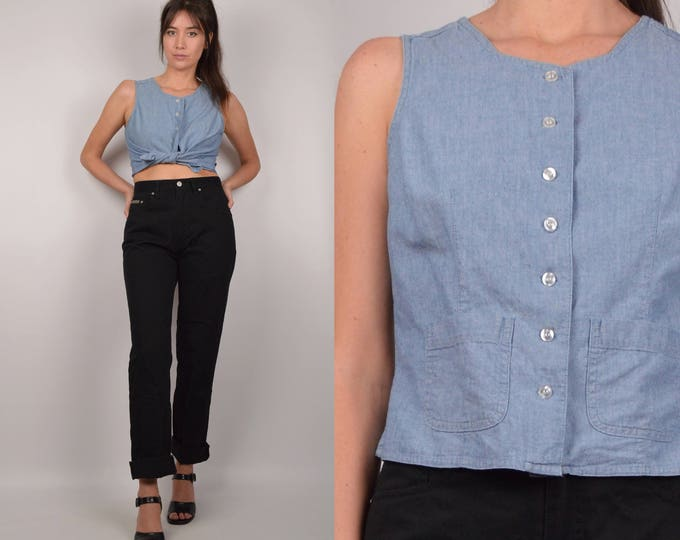 Vintage Chambray Denim Shirt