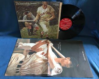 "RARE, Vintage, ""The Impossible Dream, Story Of The 1967 Boston Red Sox"", Vinyl LP, Record Album, MLB Baseball, Carl Yastrzemski"