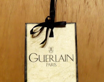 Vintage 1980s 1990s Guerlain Perfume Promotional Small Paper Shopping Bag Designer Fragrance Collectible