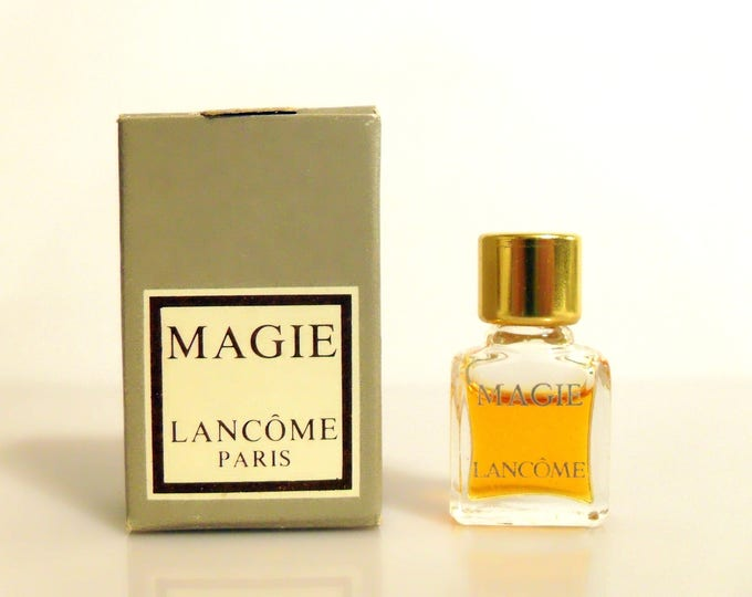 Vintage 1970s Magie by Lancome Pure Parfum Micro Mini Miniature Perfume and Box