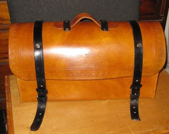 Civil War Victorian Leather  Travel Trunk Case