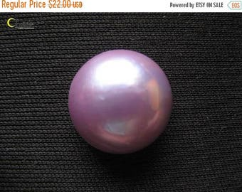 SALE Organic Radiant Orchid Mabe Pearl Cabochon - 17mm round