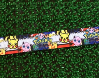 "7/8"" Grosgrain Pikachu Ribbon"