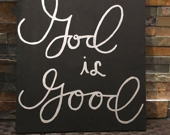 God is Good wooden Sign