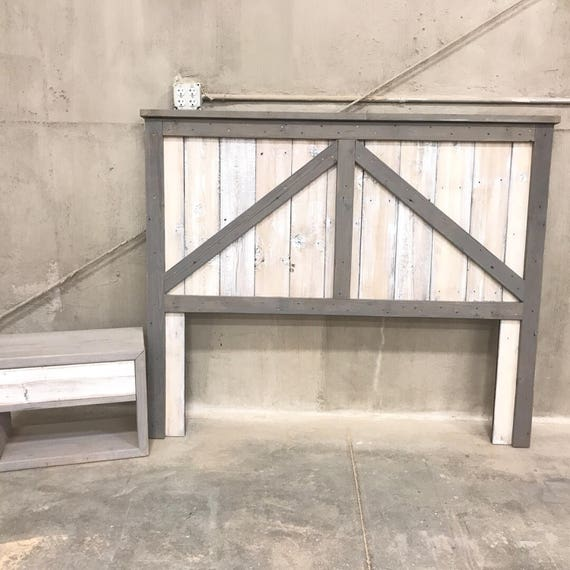 Reclaimed wood Barn Loft Door Headboard