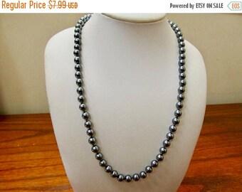 On Sale TRIFARI Vintage Grey Pearl Necklace Item K # 740