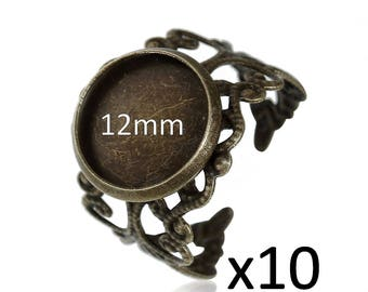 10 support ring bronze Adjustable ring 12mm