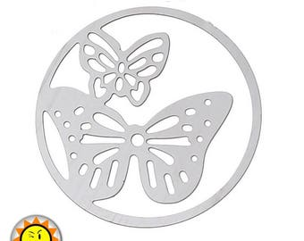 1 print Butterfly metal stainless steel