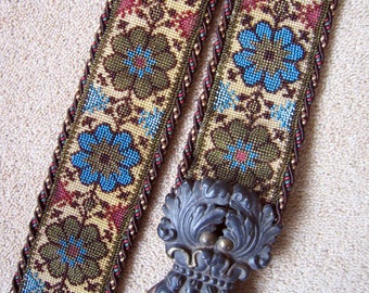 Antique Vintage Bell Pull Beadwork Beaded Victorian