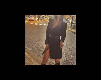 Black, Black Jacket Dress, Black Women Dress, Jacket Dress, Size S
