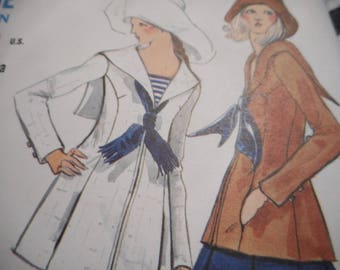 Vintage 1970's Vogue 7734 Jacket, Skirt and Pants Sewing Pattern Size 10 Bust 32 1/2