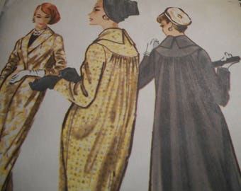Vintage 1950's McCalls 4390 Coat Sewing Pattern Size 12 Bust 32