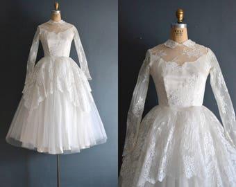 Michaela / 50s wedding dress / vintage 1950s wedding dress