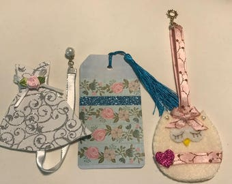 Set of 3 Bookmarks for 10 Dollars