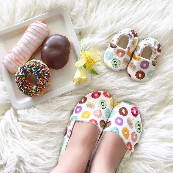 Mom and Me Donuts Matching Shoe Set
