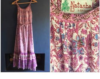 70s Sheer Indian Gauze Sun Dress Small