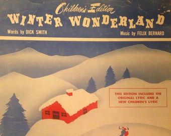 Vintage 1934 Winter Wonderland Sheet Music by Felix Bernard