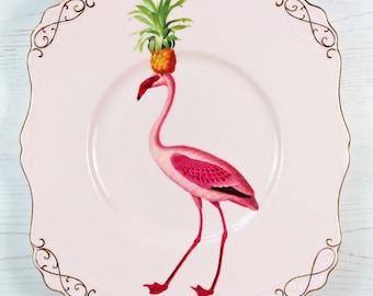 Fancy Flamingo Cake Plate