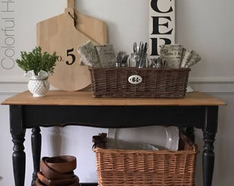 Rolling Kitchen Cart, Beverage Cart, Entry Table, Server, Farmhouse Sideboard, Wood Cart, Portable Kitchen Island, Pick Up Only